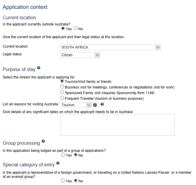 australia-visa-application-context Online Application Form For Australian Pport on